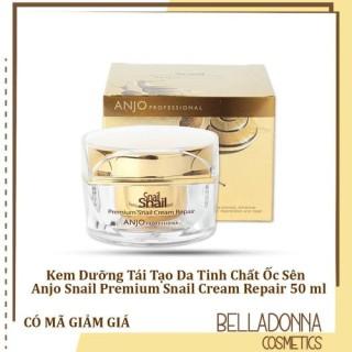 Kem Dưỡng Tái Tạo Da Tinh Chất Ốc Sên Cao Cấp Anjo Snail Premium Snail Cream Repair 50 ml thumbnail