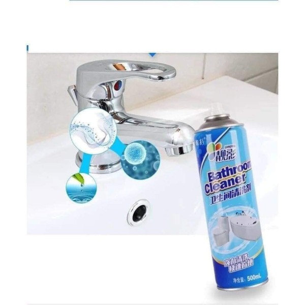 Chai xịt bọt tuyết giúp tẩy rửa nhà tắm nhà vệ sinh Bathroom Cleaner 500ml XANH