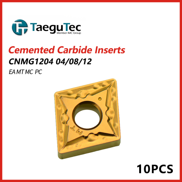 TaeguTec Cemented Carbide Inserts CNMG 1204 04/08/12 EA MT MC PC