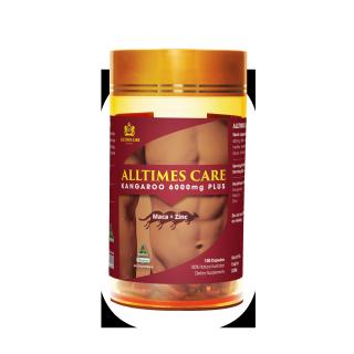 Thực phẩm bảo vệ sức khỏe Alltimes Care Kangaroo 6000mg Plus Hộp 100 viên thumbnail