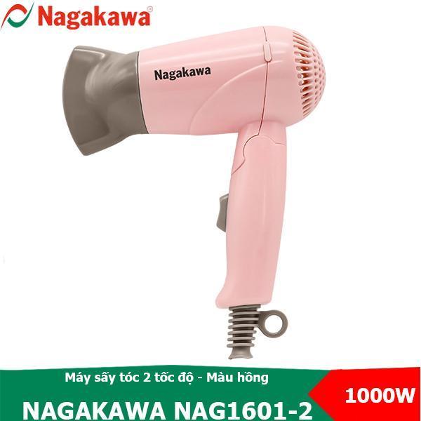 Máy sấy tóc 2 tốc độ, 1000W Nagakawa NAG1601 thiết kế tay cầm gập được