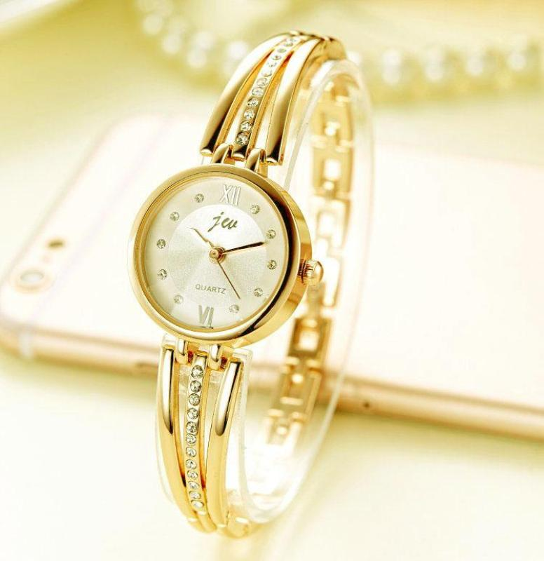 Nơi bán Đồng hồ nữ lắc tay JW mặt tròn số đính đá tinh tế mẫu Cực XINH SY01 (full box)