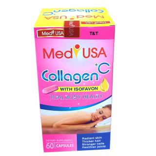 [Hộp 60 viên] Viên Uống Trắng Da Toàn Thân MedyUSA COLLAGEN +C -Với thành phần Collagen 120mg.sữa ong chúa, nhau thai cừu- giúp chống lão hóa, giảm thâm nám,ngăn ngừa nếp nhăn , tàn nhang 4