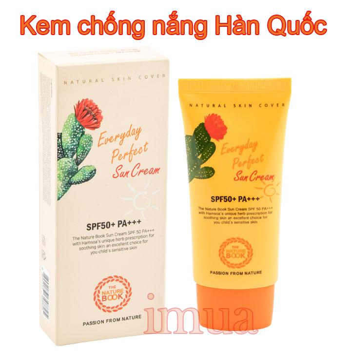Kem chống nắng everyday perfect sun cream SPF 50+ PA+++ The Nature Book
