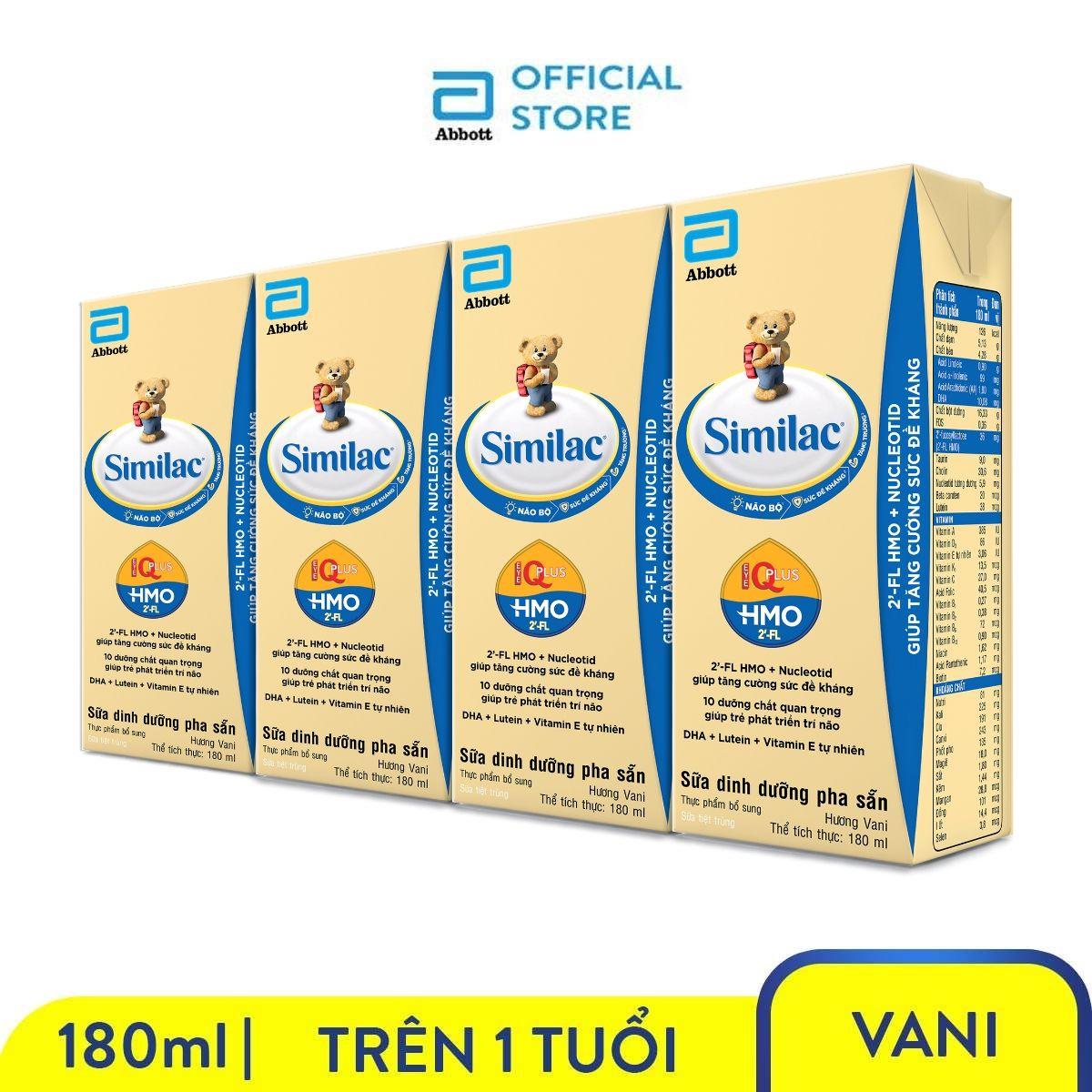 Offer Khuyến Mại Lốc 4 Hộp Sữa Nước Similac 180ml Nuôi Dưỡng Hệ Miễn Dịch Tăng Cường Sức đề Kháng Phát Triển Trí Não