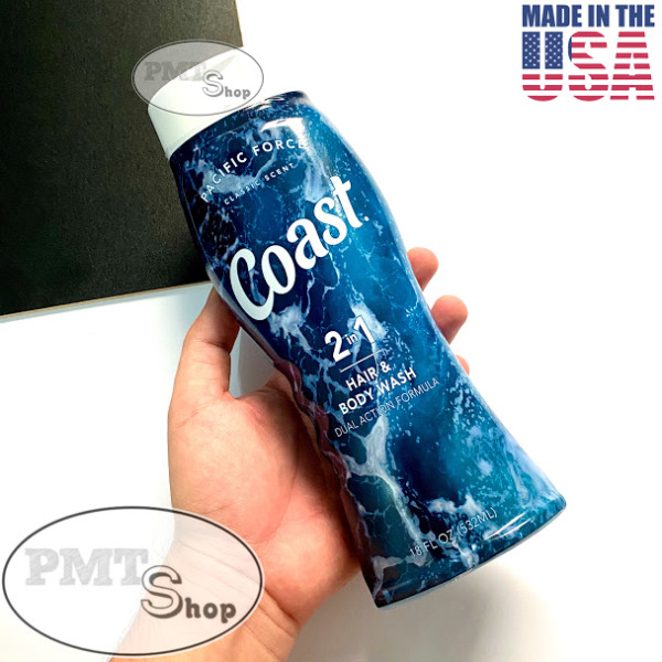 [USA] Dầu tắm gội nam 2in1 Coast Hair & Body Wash Classic Scent 532ml Pacific Force - Mỹ
