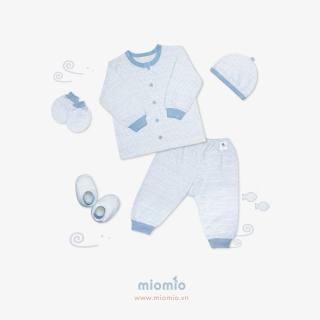 Set dài 5 món sọc xanh - Miomio - dành cho bé từ 0-24 tháng, chất lượng đảm bảo an toàn đến sức khỏe người sử dụng, cam kết hàng đúng mô tả