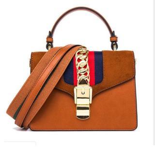 Túi đeo vai nữ thời trang khuy cài nối xích bản to phong cách DV658 thumbnail
