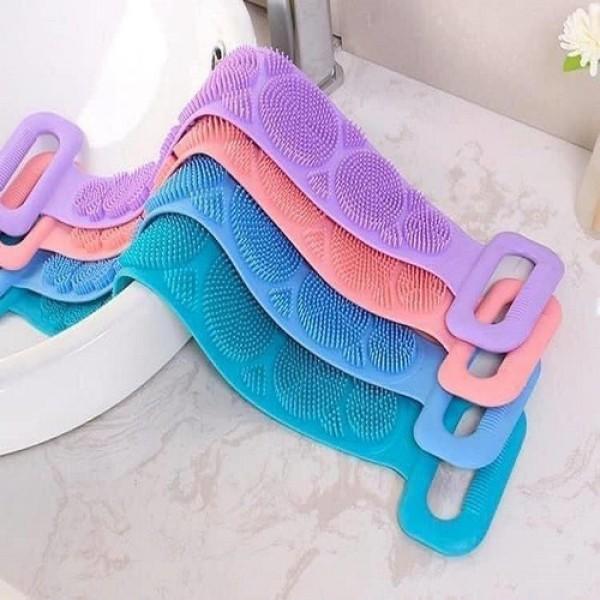 Dây tắm cọ, chà lưng 2 mặt bằng silicon đa năng ( màu ngẩu nhiên)