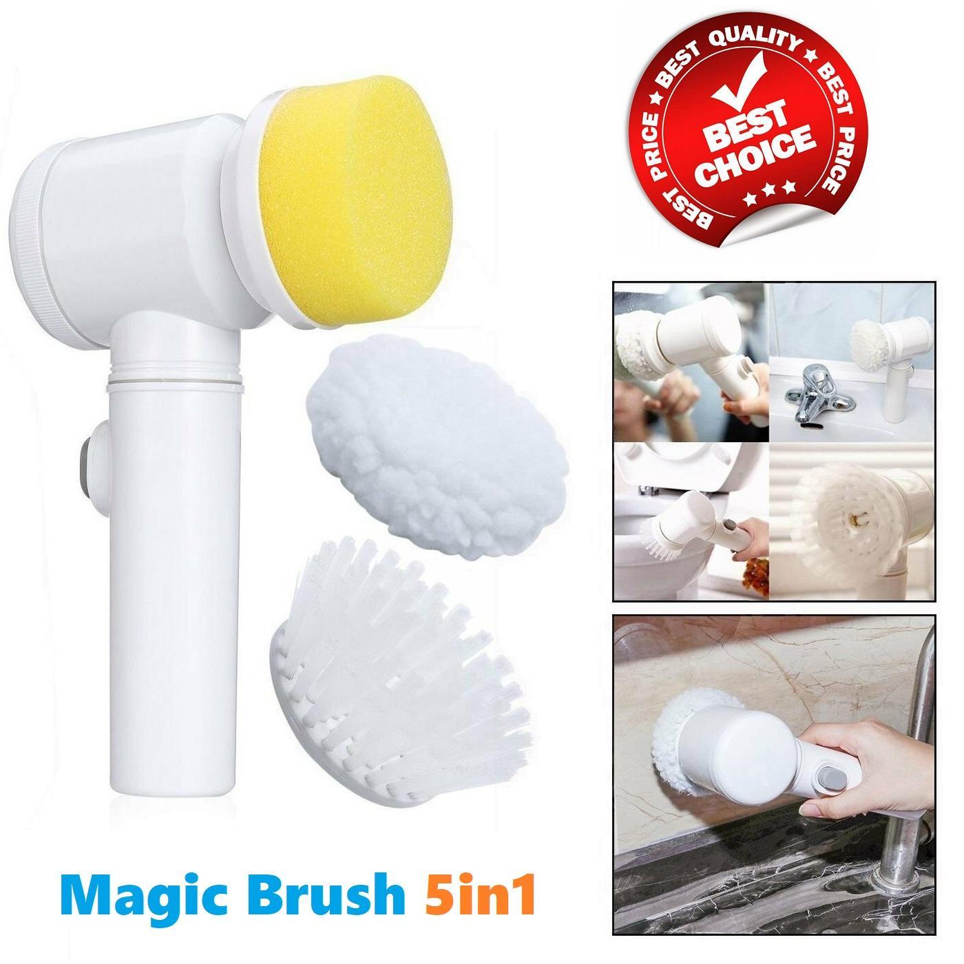 Máy đánh sạch vết bẩn 5 trong 1 cao cấp MAGIC BRUSH - Dụng cụ vệ sinh gia đình đa năng