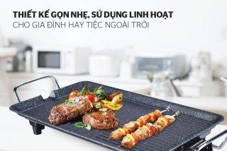 Bếp nướng điện Sunhose SHD4607 - Bếp điện chống dính - công xuất 1500W - Bếp điện Nướng Không Khói, Thiết Kế Thông Minh, Trọng Lượng Cực Nhẹ Chỉ 1,5kg Rất Tiện Cho Việc Sử Dụng Tại Nhà, Bảo Hành 1 Đổi 1 thumbnail