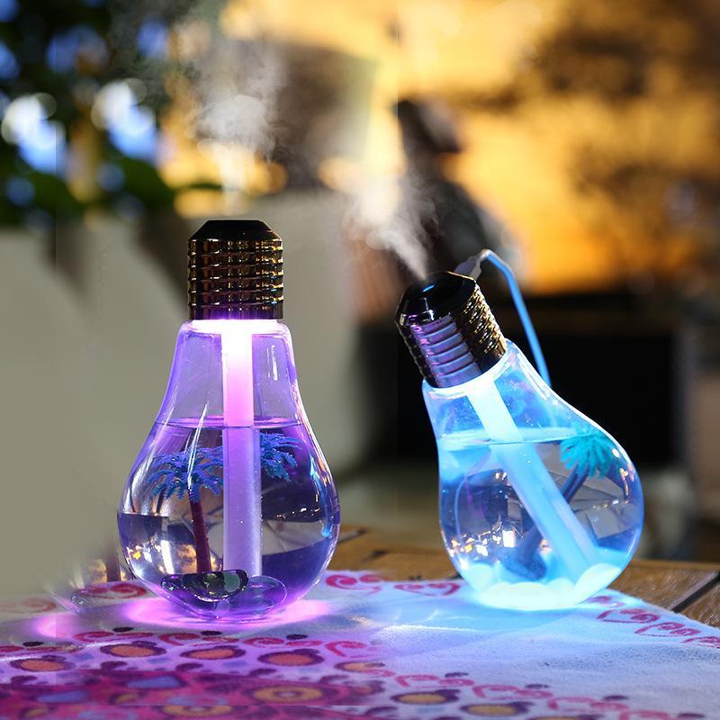 Bảng giá Máy phun sương tạo ẩm hình bóng đèn LED tự động đổi màu
