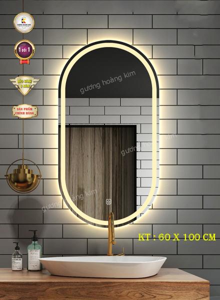 Gương hoàng kim gương đèn led cảm ứng 3 chạm + phá sương bầu dục HK-2006V