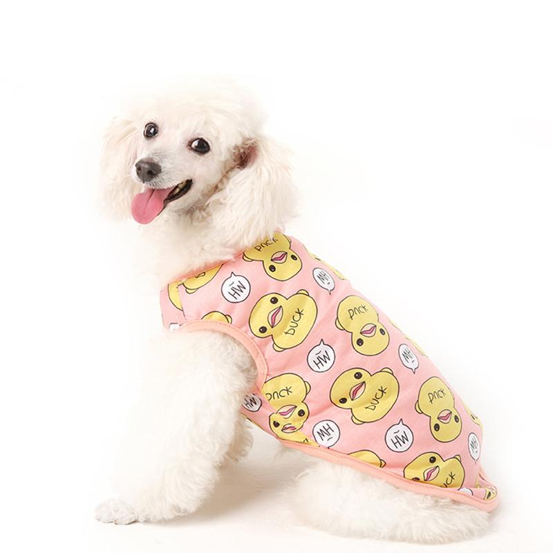 Quần Áo Cho Chó Mèo Thú Cưng Áo Ba Lỗ Vịt - TTTC3, áo cho thú cưng + Tặng thẻ tích điểm nhận quà