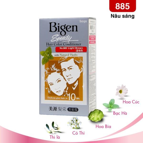 Thuốc Nhuộm Tóc Bigen Speedy No.885 Light Brown - Nâu Nhạt nhập khẩu