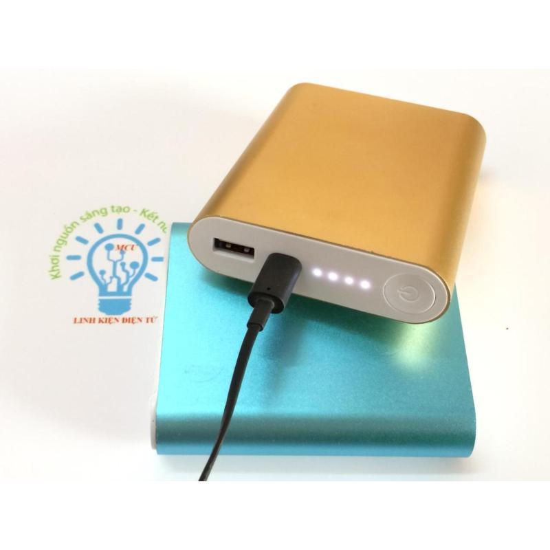 Giá Box Sạc Dự Phòng 4 Cell 2A 18650 Xiaomi Vỏ Nhôm Cao Cấp Tặng cáp sạc zin cao cấp ( Không gồm pin)  - Màu Sắc tự chọn