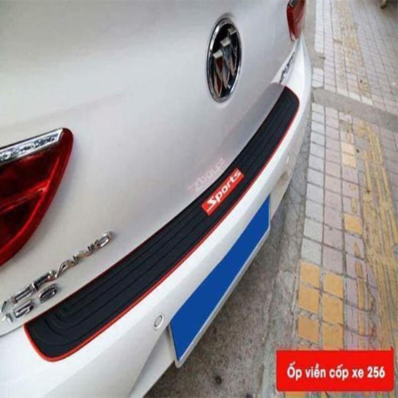 Nẹp chống trầy cốp cao su chữ SPORT dùng chung cho mọi loại xe - 1 tấm.