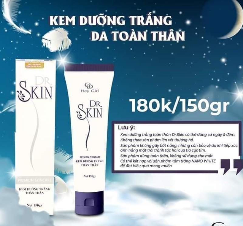 Kem dưỡng trắng toàn thân Body Cream Dr SKIN