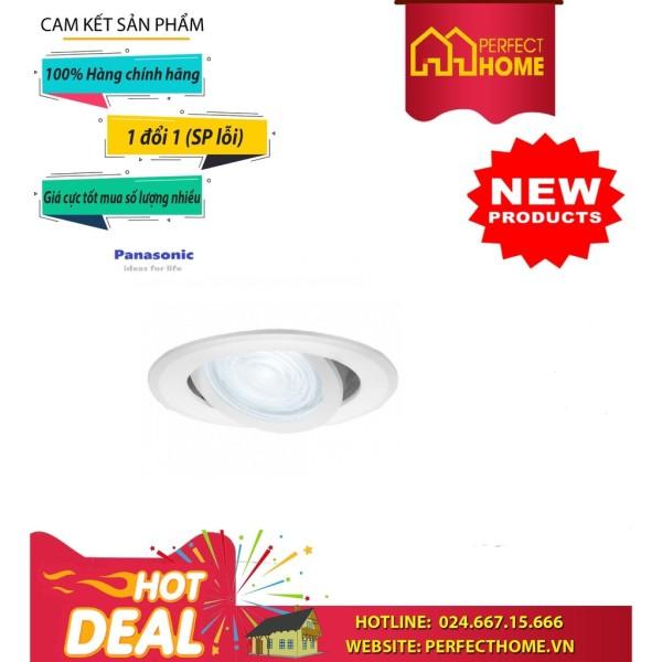 Đèn Led Downligt Âm Trần Panasonic  Nnp21101-V Điều Chỉnh Góc Chiếu 7W Ánh Sáng Vàng
