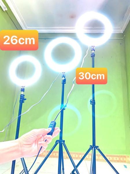 Bảng giá Bộ Đèn livestream mini, Đèn livestream bán hàng, make up kèm gậy 2m1 size 26cm