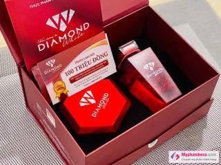 ( mua 3 trắng da tặng 2 nước uống collagen ) 3 HỘP Viên uống trắng da Ngọc Trinh Beauty Diamond White Plus 5.0 tem cào mã QR thumbnail