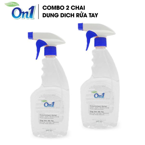 COMBO 2 chai Dung dịch sát khuẩn tay nhanh On1 Protect hương BamBoo Charcoal chai xịt 650ml