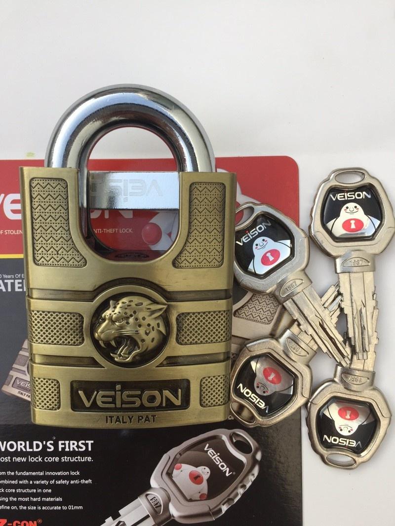 Ổ khoá 6 phân chống cắt VEISON chống trộm  Cao cấp
