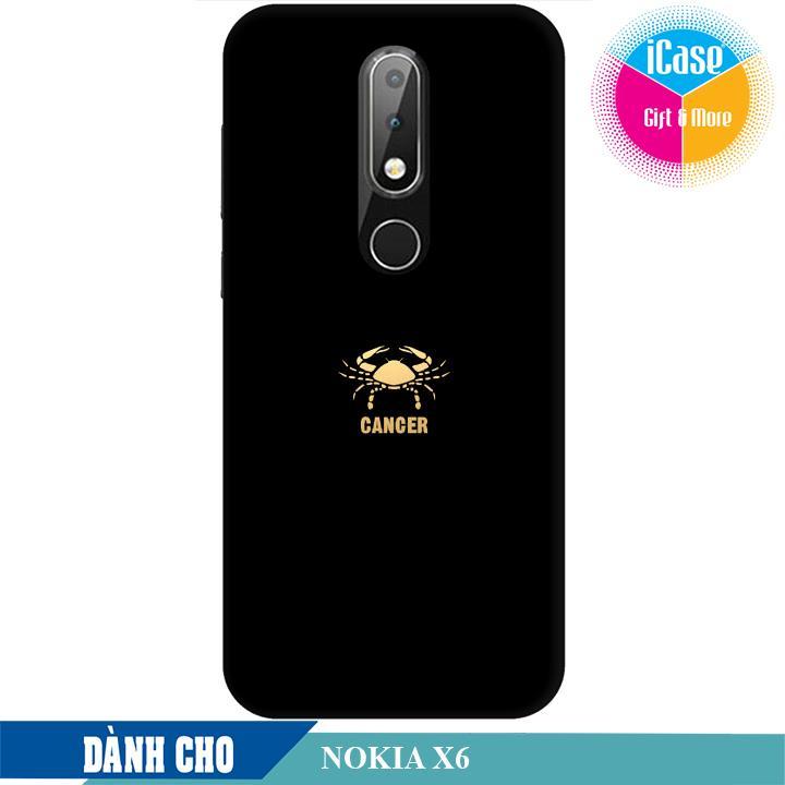 Ốp lưng nhựa dẻo dành cho Nokia X6 in hình Cung Cự Giải