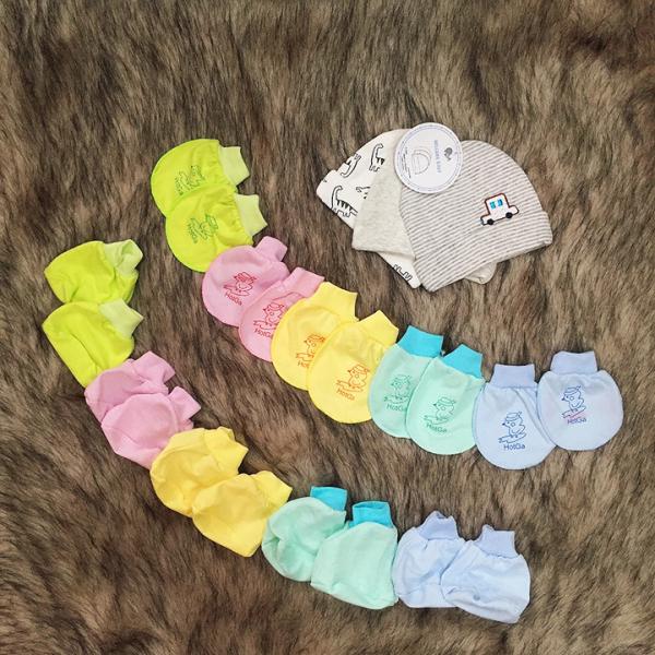 Set bao tay bao chân cao cấp cho bé sơ sinh chất cotton thoáng khí thun co giãn không gây hằn an toàn cho da bé BBShine – SS009