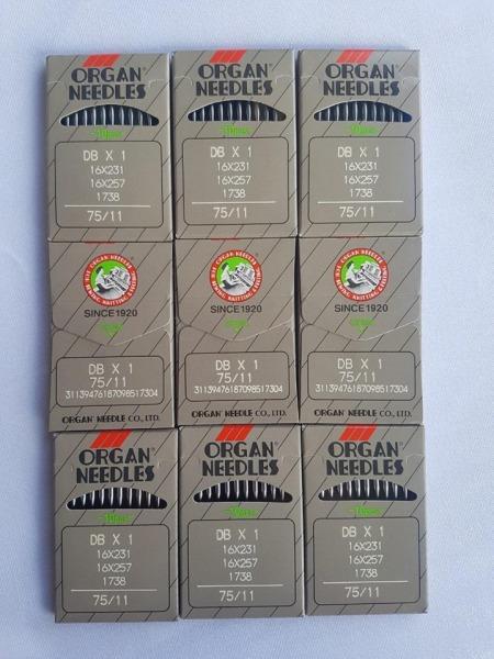 vĩ 10 cây Kim máy may DBx1 máy may công nghiệp từ số 9 đến số 18