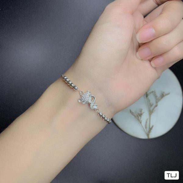 Bộ trang sức bạc ta mặt hồ ly MS245