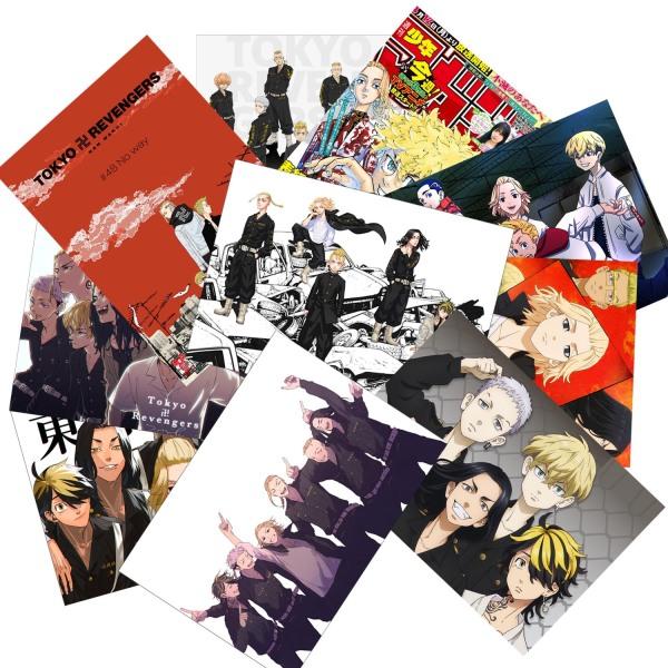 Set 3-10 Tranh poster Tokyo Revengers (bóc dán)