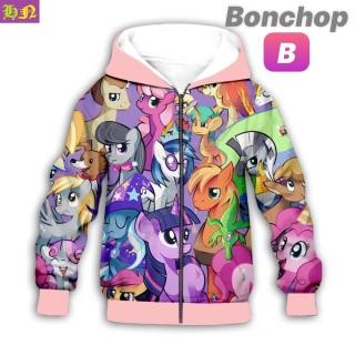Áo khoác bé gái hình ngựa Pony từ 11-43kg - Áo khoác nữ - PONY - 100% thun cotton da cá in 3D- Hương Nhiên thumbnail