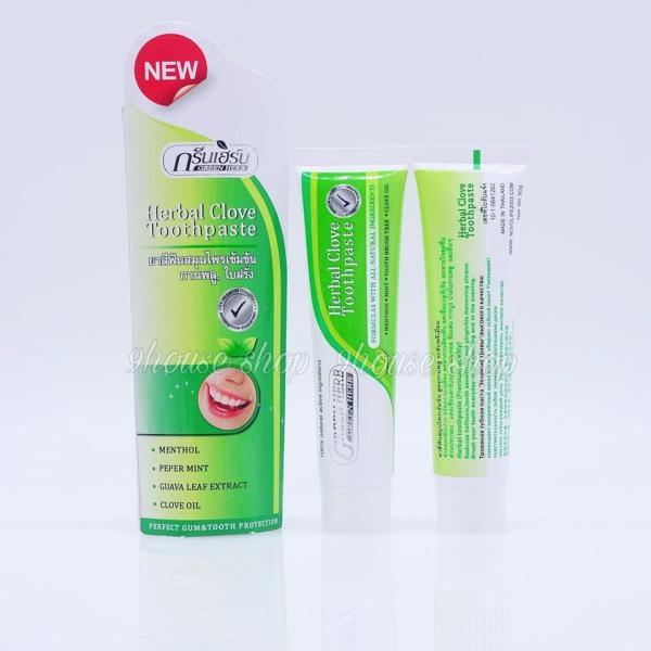 01 TUÝP Kem Tẩy Trắng Răng GREEN HERB Thái Lan 30gr (Herbal Clove Toothpaste)