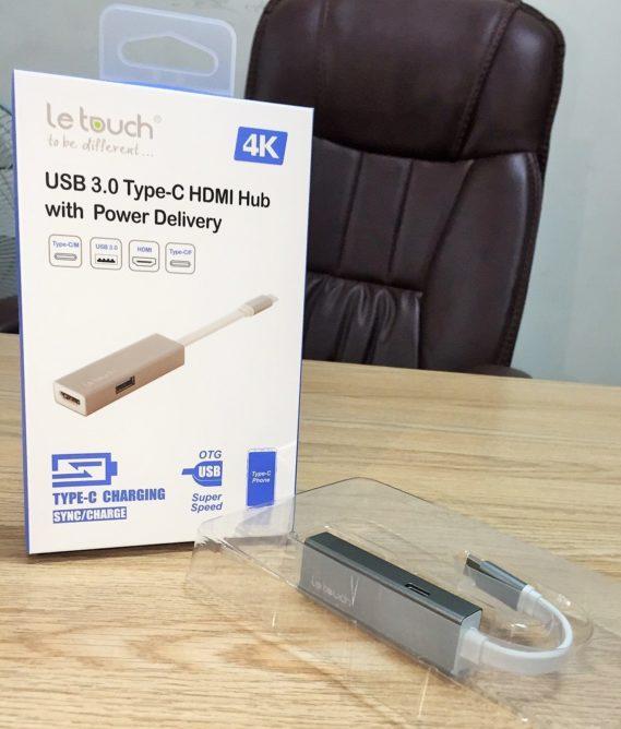 CỔNG CHUYỂN/HUB USB TYPE-C LE TOUCH 3.0 HDMI