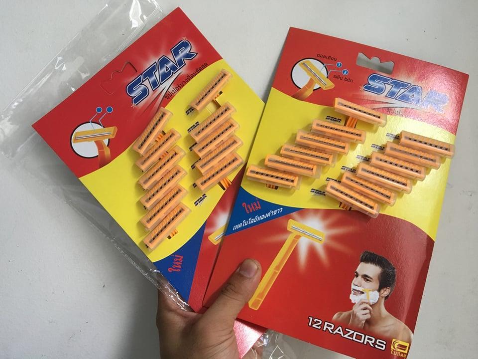 [Combo 24 cây] Dao Cạo Râu Thái Lan STAR tốt nhất