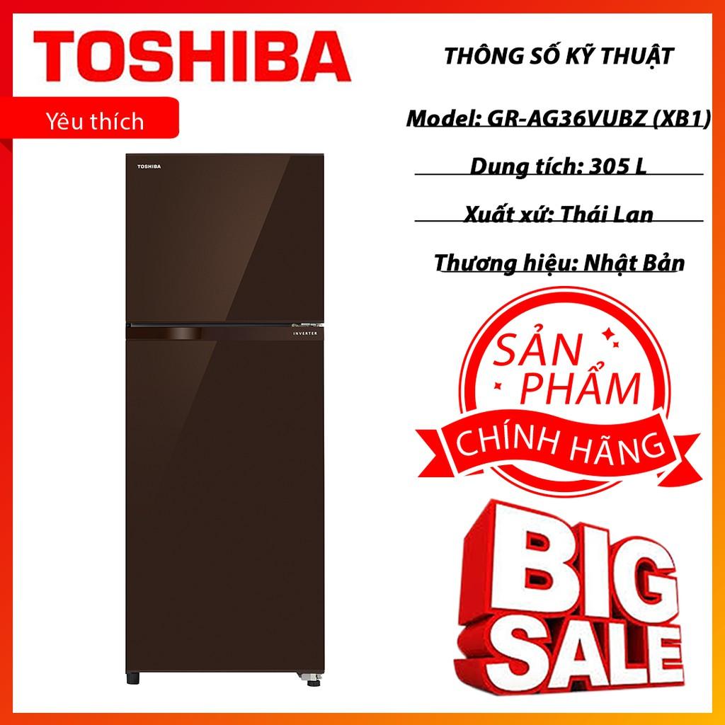 Tủ lạnh Toshiba Inverter 305 lít GR-AG36VUBZ XB1 chính hãng