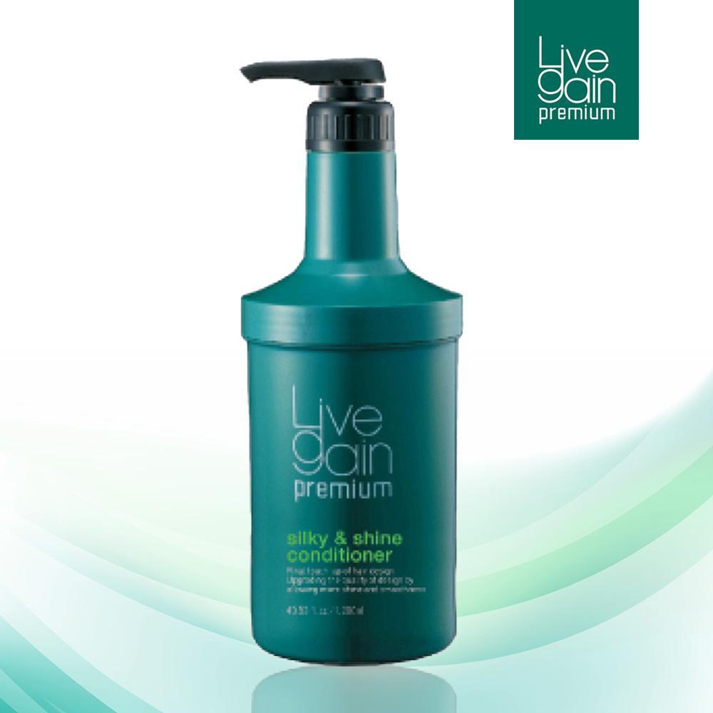 Xả/Hấp Giữ Màu Nước Hoa Livegain Premium Silky & Shine Conditioner 1200ml Hàn Quốc