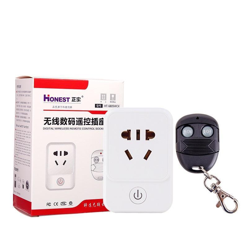 Bộ công tắc điều khiển tắt mở thiết bị điện từ xa công suất 500W Honest Khoảng cách 1KM (10A-265V), công tắc wifi, công tắc bật tắt máy bơm nước từ xa, ổ cắm điều khiển từ xa, ổ cắm wif, công tắc điện