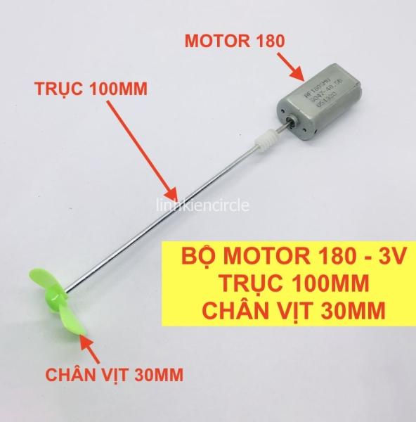 Bảng giá [HCM]Bộ motor 180 điện áp 3V trục 100mm chân vịt nhựa 30mm DIY chế tàu thuyền mini - LK0150