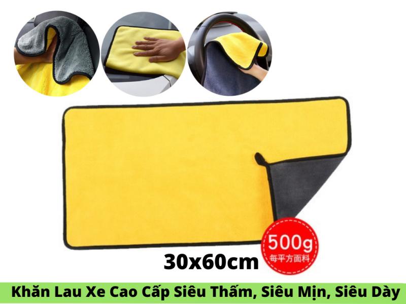 Khăn Lau Xe Cao Cấp Siêu Thấm ,Siêu Mịn ,Siêu Dày 30x60cm ,Khăn Lau Xe Micro