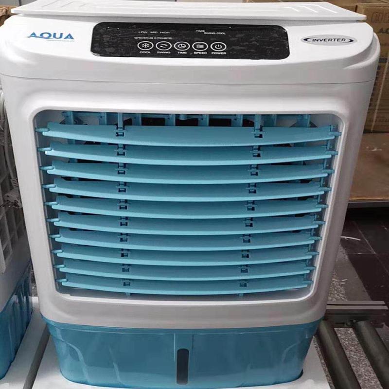 Quạt điều hòa AQUA làm mát bằng hơi nước dùng điều khiển công nghệ Nhật Bản-công suất 130W-lưu lượng gió 6000m3/h-thể tích bình 35L-tiết kiệm điện bằng 1/16 lần điều hòa-Bảo hành 01 năm