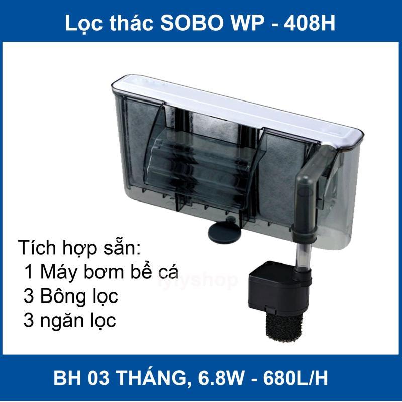 Lọc thác, máy lọc thác nước bể cá Sobo WP-408H ( 6.8W, 680L/H) cao cấp, tiết kiệm điện
