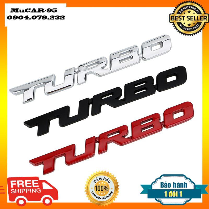 TEM DECAL CHỮ NỔI 3D TURBO-Chữ nỗi turbo trang trí ô tô -trang trí xe hơi- Mucar