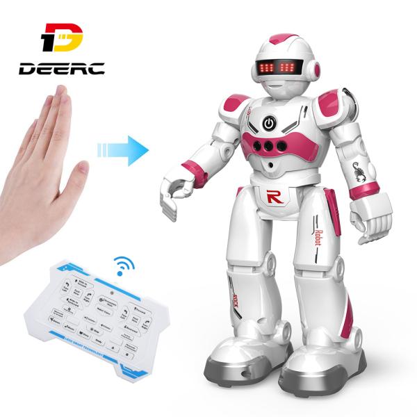 Robot Đồ Chơi Thông Minh DEERC Cho Trẻ Em Bé Trai Robot Điều Khiển Từ Xa Lập Trình Thông Minh Với Cảm Biến Bằng Cử Chỉ Đi Bộ Nói Chuyện Hát Khiêu Vũ Phù Hợp Làm Quà Tặng - intl