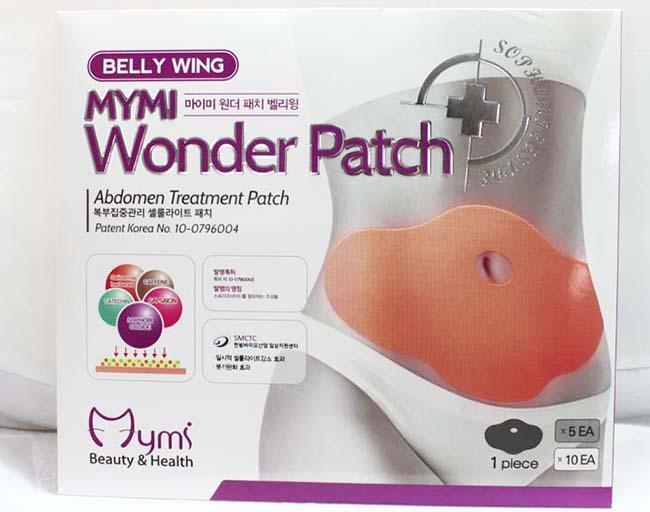 Miếng dán tan mỡ bụng Hàn Quốc MyMi Wonder Patch (Bộ 5 miếng)- Bộ 5 Miếng dán tan mỡ bụng hiệu quả Mymi Wonder Patch tốt nhất