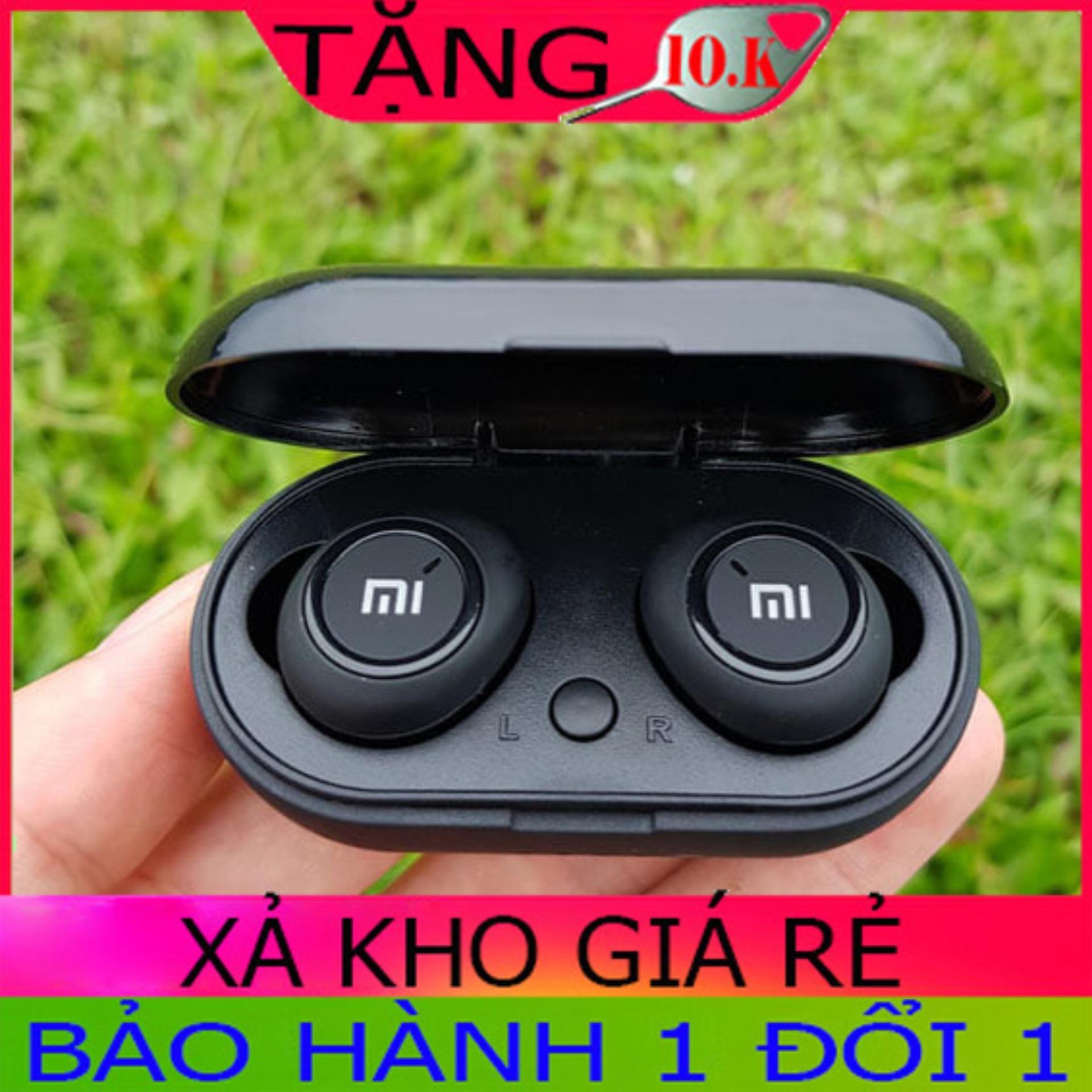 Tai Nghe Bluetooth Xiaomi Redmi Airdots Bluetooth 5.0 Tai Nghe tự động kết nối -5H chơi nhạc-Cách âm tốt-Âm thanh nổi - Cốc sạc 2000mAh-Có quà tặng