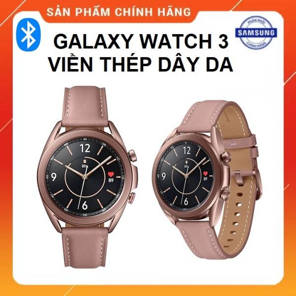 [Trả góp 0%](BẢO HÀNH 12 THÁNG CHÍNH HÃNG SSVN) - Đồng Hồ Thông Minh Samsung Galaxy Watch 3 41mm và 45mm viền thép dây da bản GPS Bluetooth Full Box Nguyên Seal - thegioisilevip