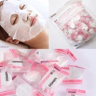 [ ] Mặt nạ giấy nén Miniso Chuẩn AUTH Nhật Bản ngày chỉ cần 1 mặt nạ, cấp ẩm, se khít lỗ chân lông thumbnail