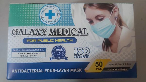 Khẩu trang y tế GALAXY MEDICAL 4 lớp CAO CẤP dùng một lần( hộp 50 cái)